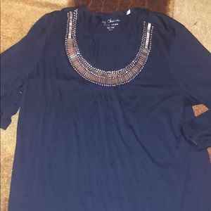 By Chico's Jewel Neck Shirt